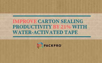 Increase Carton Sealing Productivity with Water-Activated Tape