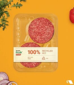 Cascades Recycled PET Recyclable Barrier Meat Processor Trays-PACKPRO